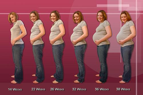 Pregnancy week and food allergies